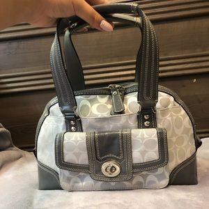 Grey/Silver Vintage Coach Bag